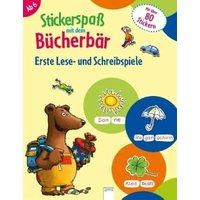 Stickerspaß mit dem Bücherbär. Erste Lese- und Schreibspiele