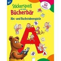 Stickerspaß mit dem Bücherbär. Abc- und Buchstabenspiele
