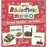 Mein Bildermaus-Memo - Englisch - In der Stadt - In Town (Kinderspiel)