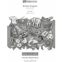 BABADADA black-and-white, British English - Kurdish Sorani (in arabic script), visual dictionary - visual dictionary (in arabic script)