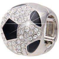 leslii Glitzer-Ring mit Strasssteinen