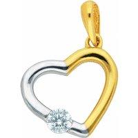 Adelia´s Kettenanhänger 333 Gold Anhänger Herz mit Zirkonia - Angebote