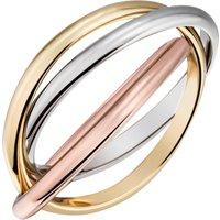 Firetti Goldring verschlungene Tricolor-Optik, glanzvoll, massiv - Angebote