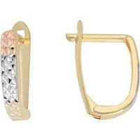 Firetti Paar Creolen Tricolor-Optik, glänzend und diamantiert - Angebote