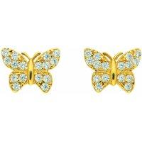 Adelia´s Paar Ohrhänger 333 Gold Ohrringe / Ohrstecker Schmetterling mit Zirkonia - Angebote