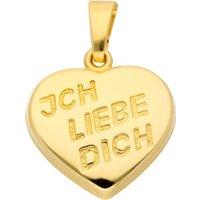 Adelia´s Kettenanhänger 333 Gold Anhänger Herz, Goldschmuck für Damen - Angebote