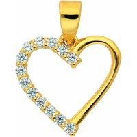 Adelia´s Anhänger Set 333 Gold Anhänger Herz mit Zirkonia, 333 Gold Goldschmuck für Damen - Angebote