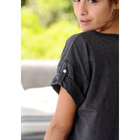 ARIZONA Damen Nachthemd, Arizona anthrazit-meliert Gr.32/34