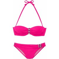 BENCH. Bügel-Bandeau-Bikini Damen pink Gr.34