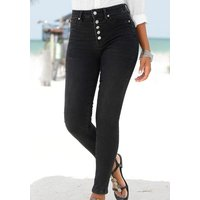 BUFFALO High-waist-Jeans Damen schwarz Gr.44