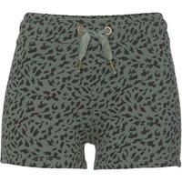 BUFFALO Shorts Damen khaki-bedruckt-schwarz Gr.44/46