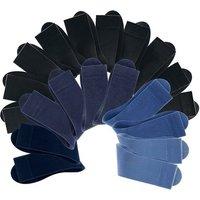 COTTON REPUBLIC Businesssocken Damen schwarz+blau Gr.39-42