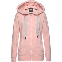 ELBSAND Kapuzensweatjacke Damen rosa-meliert Gr.XL (42)