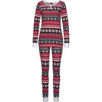 LASCANA Herren Pyjama rot-grün Gr.32/34