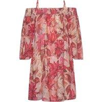 Strandkleid Damen rosa-bedruckt Gr.42