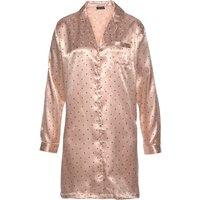 S.OLIVER BODYWEAR Herren Nachthemd rosa-schwarz Gr.42