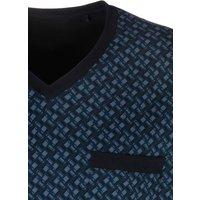 SCHIESSER Nachthemd Herren blau-bedruckt Gr.54