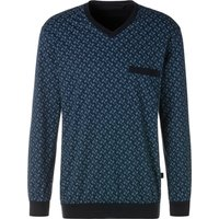 SCHIESSER Herren Pyjama blau-marine-bedruckt Gr.25