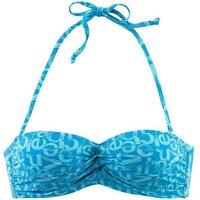 VENICE BEACH Bandeau-Bikini-Top Damen blau-bedruckt Gr.40
