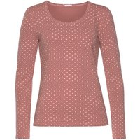 VIVANCE Damen Langarmshirt rosé+taupe Gr.32/34