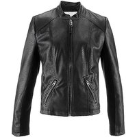 Cropped Faux Leather Jacket at Bonprix