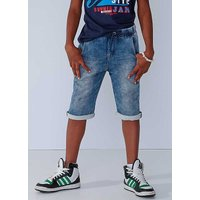 Denim Jersey Shorts