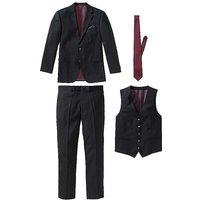 Suit Jacket & Trousers & Waistcoat & Tie