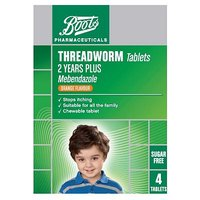 Boots Threadworm Tablets   4 Tablets