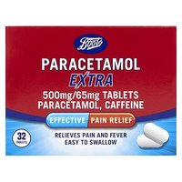 Boots Paracetamol Extra 500mg/65mg - 32 Tablets