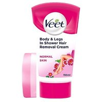 Veet In Shower Hair Removal Cream with Lotus Milk   Jasmine Fragrance for Normal Skin 150ml