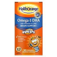 Seven Seas Haliborange Omega 3   90 orange flavour chewable fruit burst capsules