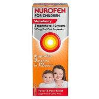 Nurofen for Children Strawberry 3 months to 12 years 100mg/5ml Oral Suspension -  200ml