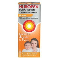 Nurofen For Children 3 months to 9 years Orange 100mg/5ml Oral Suspension 100ml