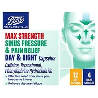 Boots Pharmaceuticals Max Strength Sinus Pressure and Pain Relief Day and Night - 16 Capsules