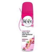 Veet Spray on Hair Removal Cream with Lotus Milk   Jasmine Fragrance for Normal Skin 150ml