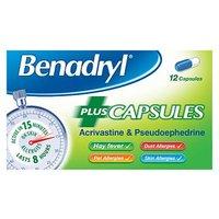 Benadryl Allergy Plus   12 capsules