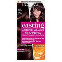 LOreal Paris Casting Creme Gloss Semi-Permanent Hair Dye, Brown Hair Dye 412 Iced Cocoa