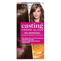 LOreal Paris Casting Creme Gloss Semi-Permanent Hair Dye, Brown Hair Dye 613 Iced Mocha