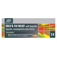 Boots Cold & Flu Relief With Ibuprofen - 24 Tablets