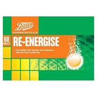 Boots Re Balance Re Energise Effervescent Orange Flavour  3 Pack   60 Tablets