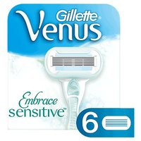 Gillette Venus Embrace Sensitive Womens 6 Razor Blade Refills