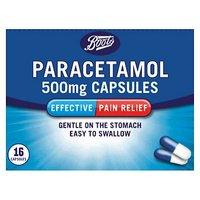 Boots Paracetamol 500mg Capsules - 16