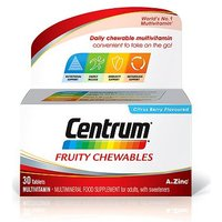 Centrum Fruity Chewables   30 citrus berry flavoured tablets with sweetener