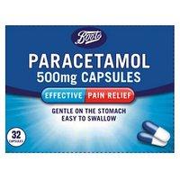 Boots Paracetamol 500mg - 32 Capsules