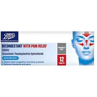 Boots Decongestant with Pain Relief - 12 Tablets