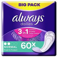 Always Dailies Pantyliners Normal 60 Liners