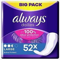 Always Dailies Pantyliners Large 52 Liners
