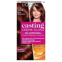 LOreal Paris Casting Creme Gloss Semi-Permanent Hair Dye, Brown Hair Dye 554 Chilli Choc