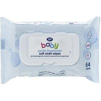 Boots Baby Soft Cloth Wipes, gently fragranced, single pack = 64 wipes