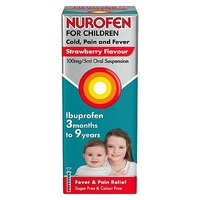Nurofen for Children Cold, Pain and Fever Strawberry Flavour - 100ml